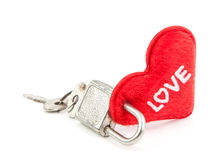 Locked heart. Everybody  find the key to unlock heart Stock Photo