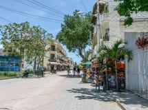 Playa del Carmen street promenade. For everybody, great choice of activities in Playa del Carmen, Mexico Stock Photos