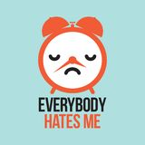 Everybody hates me alarm Royalty Free Stock Photography