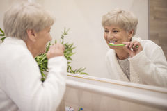 Everyday beauty routine royalty free stock image