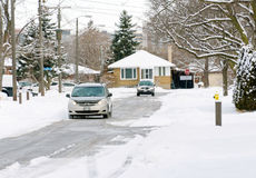 Everyday Canadian Winter Scenes Royalty Free Stock Image
