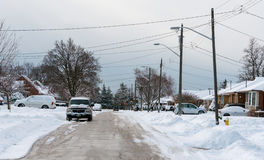Everyday Canadian Winter Scenes Royalty Free Stock Photo