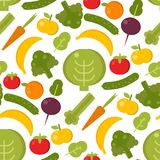 Everyday food common goods organic products seamless pattern background shopping in supermarket vector illustration. Everyday food common goods organic products Royalty Free Stock Photo