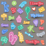 Everyday and home icons Royalty Free Stock Photography