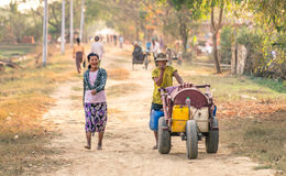 Everyday life in Dala - Countryside near Yangoon Myanmar Stock Photo