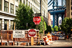 Everyday life on Eight Avenue in New York Royalty Free Stock Image