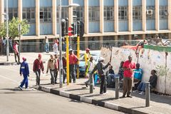 Everyday life in Johannesburg in South Africa Stock Photography