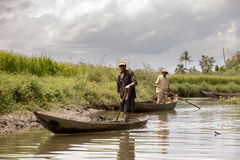 Everyday life in madagascar countryside on river Stock Photo