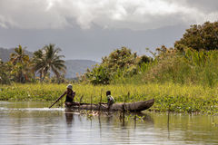 Everyday life in madagascar countryside on river Stock Photos