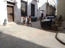 Everyday life on streets of Havana Centro Royalty Free Stock Photography