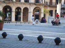 Everyday life on streets of Havana Centro Stock Photo