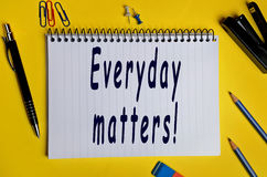 Everyday matters words Stock Image