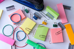 Everyday Office Supplies Royalty Free Stock Images