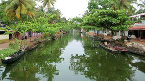 Everyday scene in Kerala Backwaters Stock Photography
