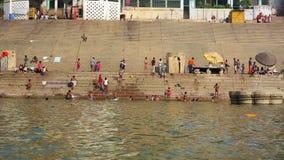 Everyday scene in Varanasi stock video