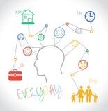 Everyday Task vector illustration