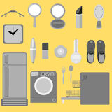Everyday tool icon set Royalty Free Stock Photo