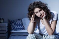 Everyday worries deprive her of good night's sleep Royalty Free Stock Image