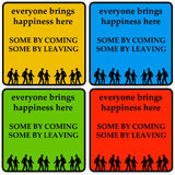 Everyone brings happiness. Some by coming, some by leaving Royalty Free Stock Photo