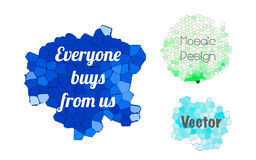 Everyone buy banners. Everyone buys from us, set of stylized vector banners Stock Images