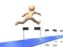 Everyone continue to run the hurdles. Stock Photos