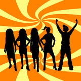 Everyone dance royalty free stock photos