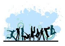 Everyone dancing and having fun. Dancing people. Royalty Free Stock Image