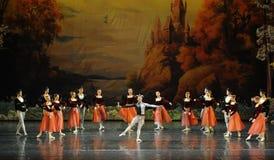 Everyone gathered clowns dance-ballet Swan Lake Royalty Free Stock Images