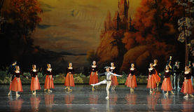 Everyone gathered clowns dance-ballet Swan Lake Stock Photos