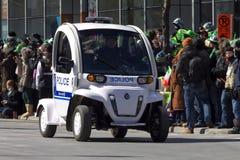 Green Police car Royalty Free Stock Photos