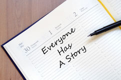 Everyone has a story concept royalty free stock photos