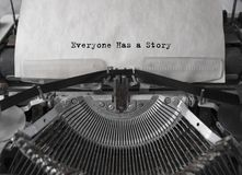 Everyone Has a Story. writer. royalty free stock photos
