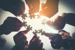Everyone is an important jigsaw at work. royalty free stock photos