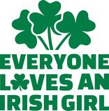 Everyone loves an irish girls with three clovers. Vector Royalty Free Stock Photos