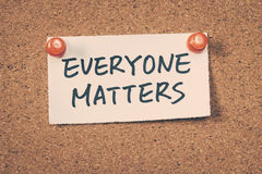 Everyone matters Royalty Free Stock Images