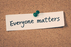 Everyone matters Stock Photography