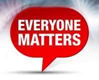 Everyone Matters Red Bubble Background royalty free illustration