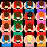 Everyone texting. ilustracji