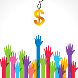 Everyone wants money concept Stock Photography
