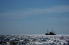 At everyone the way... Fishing trawler and bird. At everyone the way Stock Photos