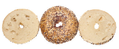 Everything Bagel. Isolated on White with a Clipping Path royalty free stock image