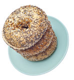 Everything Bagels Stock Photo