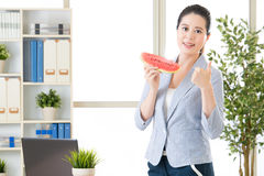 Everything we can achieve for this summer with watermelon Royalty Free Stock Images