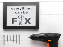 Everything can be fix DIY house tools Stock Images