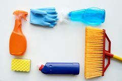 Everything for cleaning Stock Photo