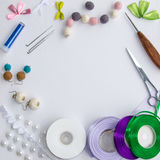 Everything dla handmade fotografia stock
