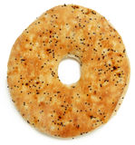 Everything Flat Bagel Over White Royalty Free Stock Images