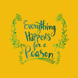 Everything happens for a reason Royalty Free Stock Photography