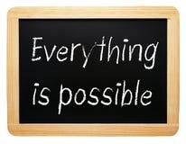 Everything jest ewentualnym chalkboard z tekstem zdjęcie royalty free