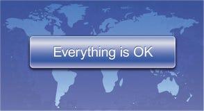 Everything jest Ok guzikiem dla stron internetowych i druku Obraz Stock